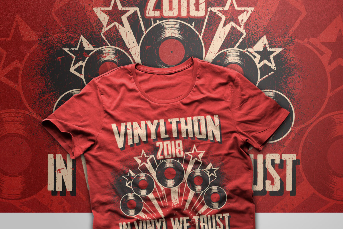 Now Taking VINYLTHON 2018 T-SHIRT PRE-ORDERS! Limited time only!!