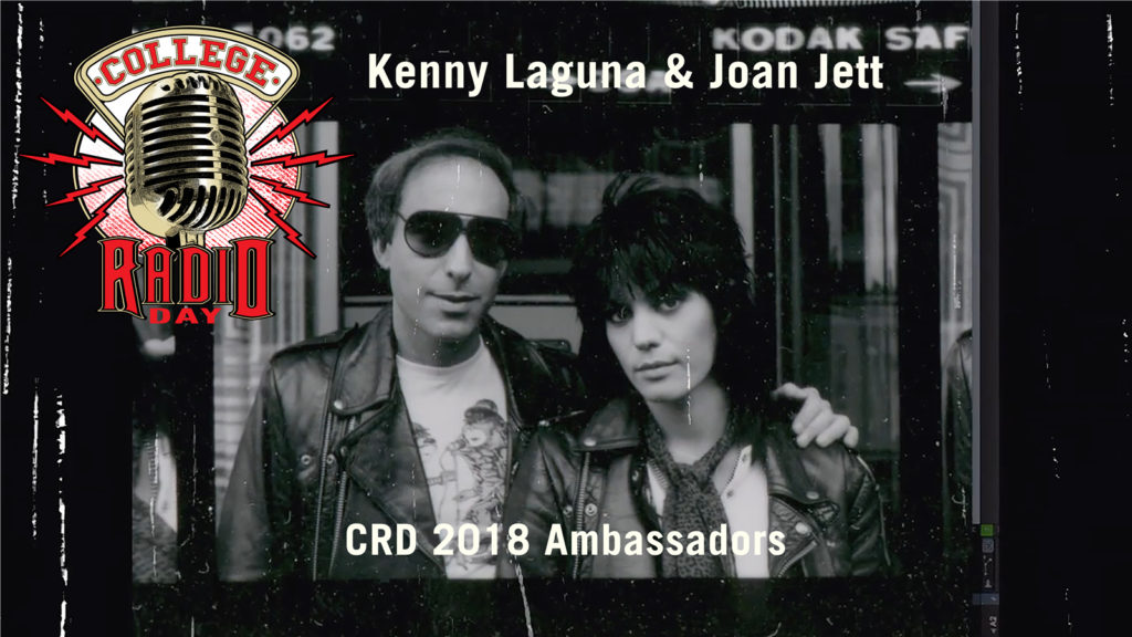 College Radio Day Announces  Joan Jett & Kenny Laguna as CRD 2018 Ambassadors