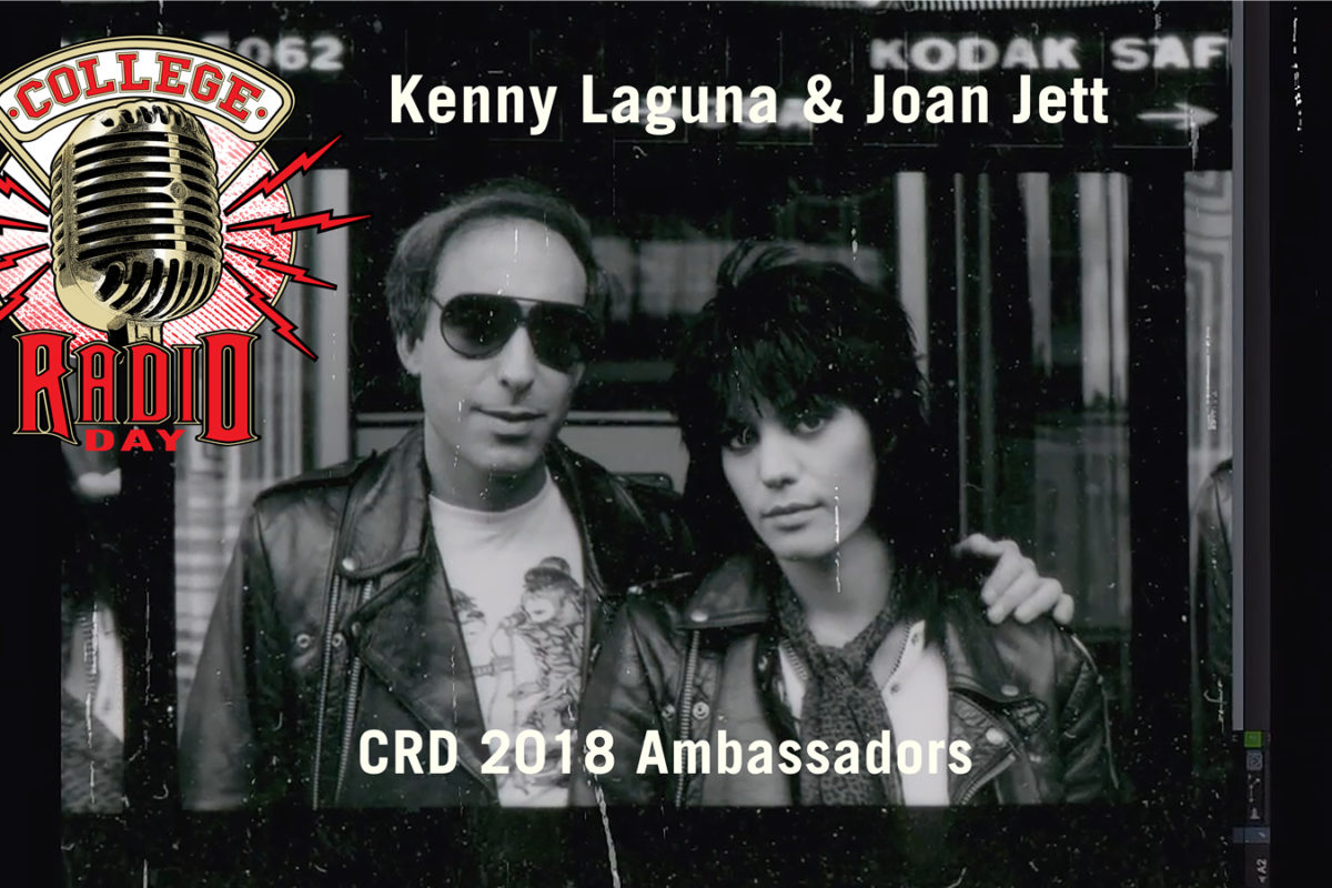 College Radio Day Announces  Joan Jett & Kenny Laguna as CRD 2018 Ambassadors