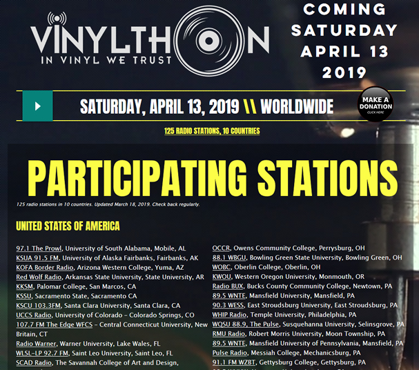 125 stations in 10 countries to celebrate Vinylthon 2019!
